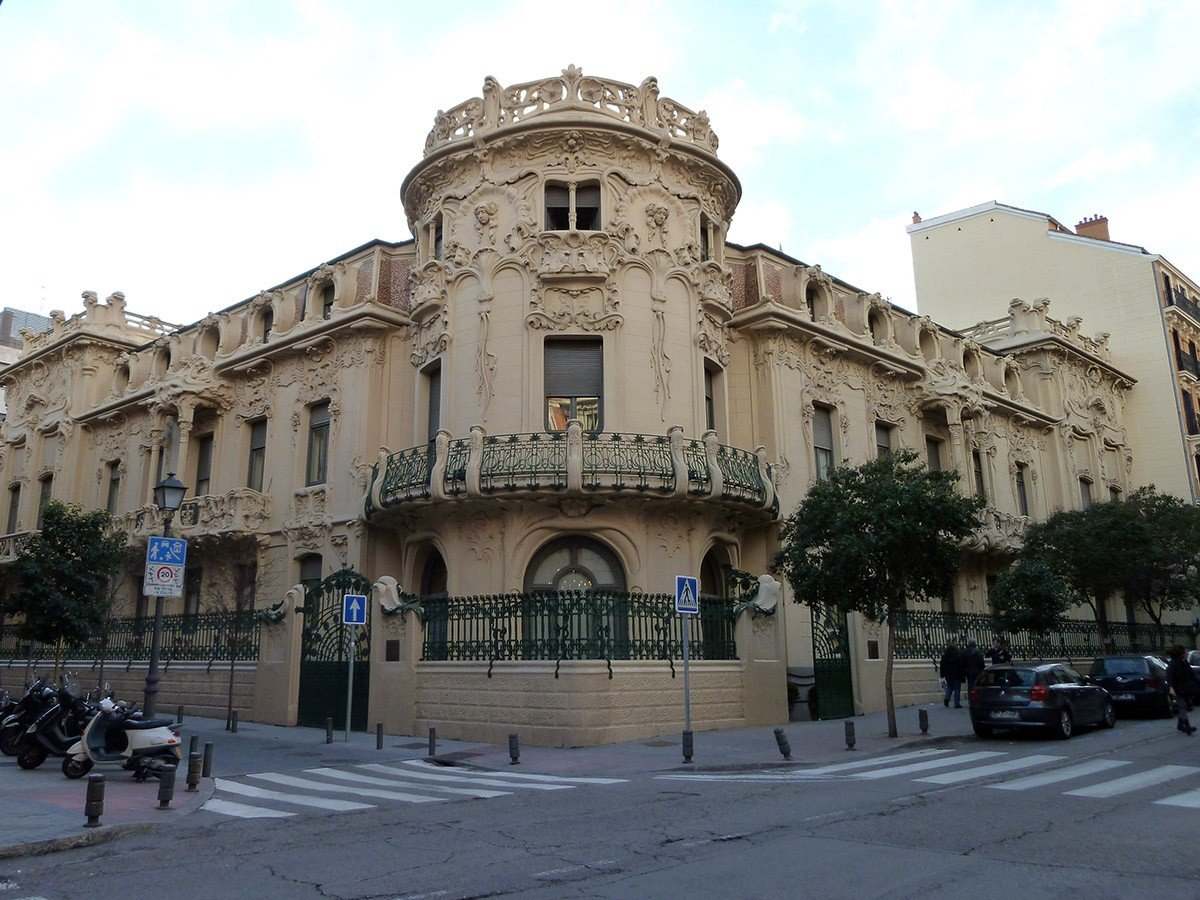 Palacio Longoria in Madrid (Spain). Built in 1904. Architect: Josep Grases.